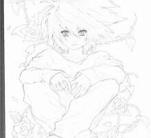 sketch  of  L ( death Note) by kurazaki