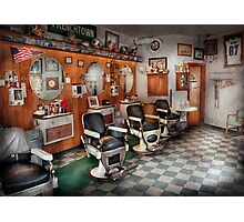 Barber - Frenchtown Barbers  Photographic Print