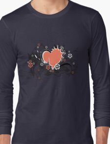 floral heart Long Sleeve T-Shirt