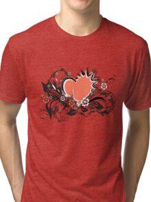floral heart Tri-blend T-Shirt