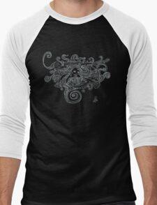 silenced, light on dark Men's Baseball ¾ T-Shirt