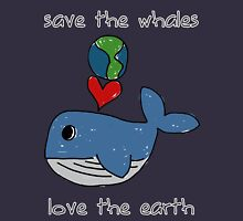 save the whales, love the earth T-Shirt