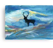 Lone Stag Canvas Print