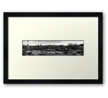 Way out West. Framed Print