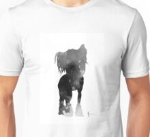 Chinese crested silhouettes watercolor art print painting Unisex T-Shirt
