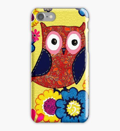 Patch work owl iPhone Case/Skin