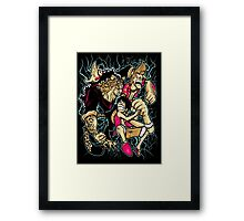 Epic Battle Continues...! Framed Print