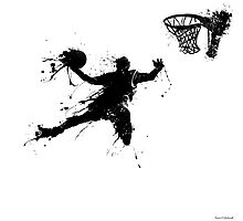 Basketballer slam dunking by Richard Eijkenbroek