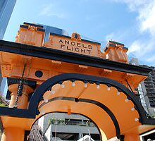 Angels Flight, Los Angeles by Mike Shin