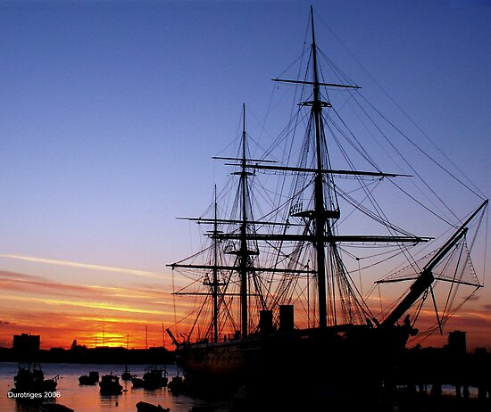HMS Warrior at Sunset by Durotriges