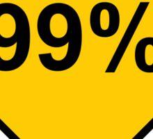 Occupy Movement - 99 Percent Occupied Sticker