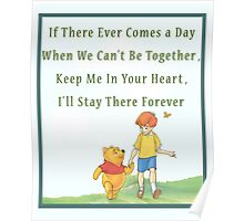 Winnie the Pooh Disney - Firendship Loveship Quote Poster