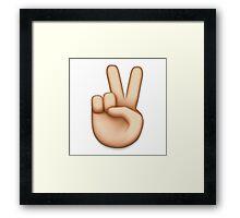 PEACE EMOJI Framed Print
