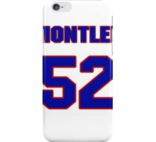 National football player Mike Montler jersey 52 iPhone Case/Skin