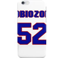 National football player Cyril Obiozor jersey 52 iPhone Case/Skin