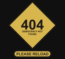 Occupy Movement - 404 Democracy Not Found   Please Reload by wetdryvac