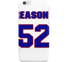 National football player Gary Reasons jersey 52 iPhone Case/Skin