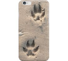 Doggy tracks in the sand iPhone Case/Skin