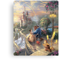 The Beauty and The Beast Disney - All Characters Canvas Print