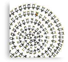 Penguin Fibonacci Canvas Print