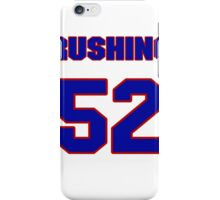 National football player Marion Rushing jersey 52 iPhone Case/Skin