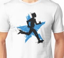Male runner with star Unisex T-Shirt