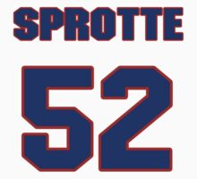 National football player Jimmy Sprotte jersey 52 by imsport