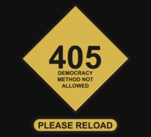 Occupy Movement - 405 Method Not Allowed by wetdryvac