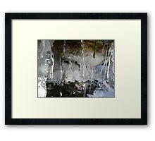 Freezing Waterfall Framed Print