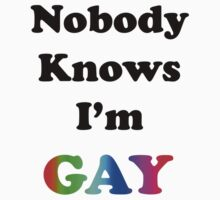 Nobody Knows I'm Gay T-Shirt