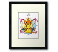 Pikachu Mega Charizard Y Costume Framed Print