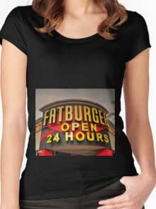 Fatburger  Women's Fitted Scoop T-Shirt