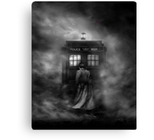 The Doctor and The Mist - Doctor Who Canvas Print