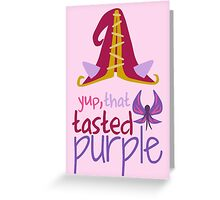 Lulu - Yup, That Tasted Purple! - League of Legends Greeting Card