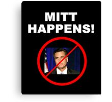 Mitt Happens Canvas Print