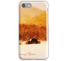 Country Snows Greeting Card iPhone Case/Skin