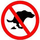 DOG NO POOP ROAD SIGN by SofiaYoushi
