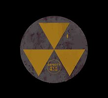Radiation Fallout Shelter Capacity Sign Circle Only by wetdryvac