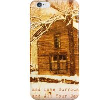 Winter Homeplace Greeting Card iPhone Case/Skin