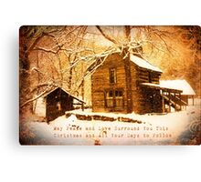 Winter Homeplace Greeting Card Canvas Print