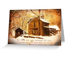 Winter Homeplace Greeting Card Greeting Card