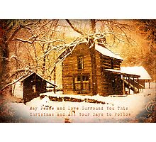 Winter Homeplace Greeting Card Photographic Print
