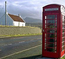 Isle of Skye phonebooth, Scotland by Amber Schiavone