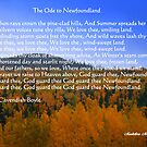 The Ode To Newfoundland by Madeline M  Allen