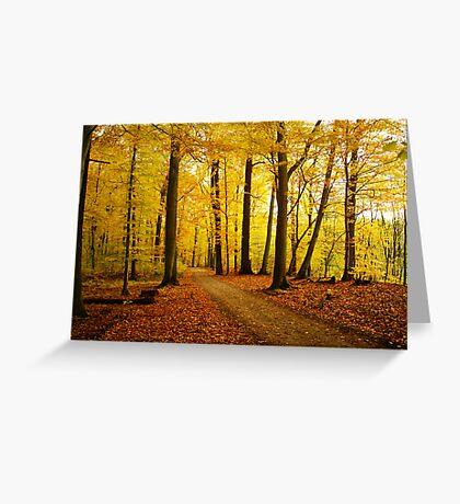Autumn strikes Greeting Card