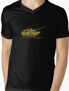 Abrams Tank Art of Diplomacy Mens V-Neck T-Shirt