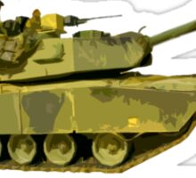 Abrams Tank Art of Diplomacy Sticker