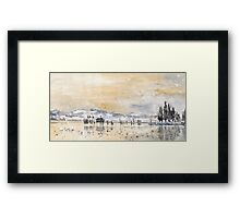 Lake Constance In Winter Framed Print