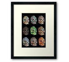 Skyrim Pixel Dragon Priest Masks Framed Print