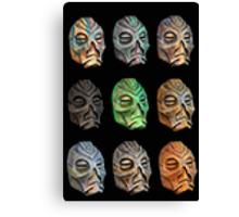 Skyrim Pixel Dragon Priest Masks Canvas Print